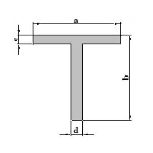 Stranggepresste Aluminiumprofile T Profil