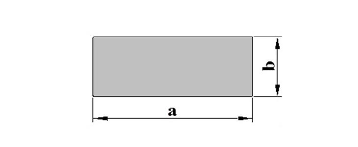 Stranggepresste Aluminiumprofile Flach