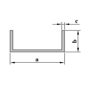 Stranggepresste Aluminiumprofile U Profil